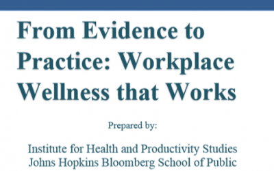 From Evidence to Practice: Workplace Wellnes that Works